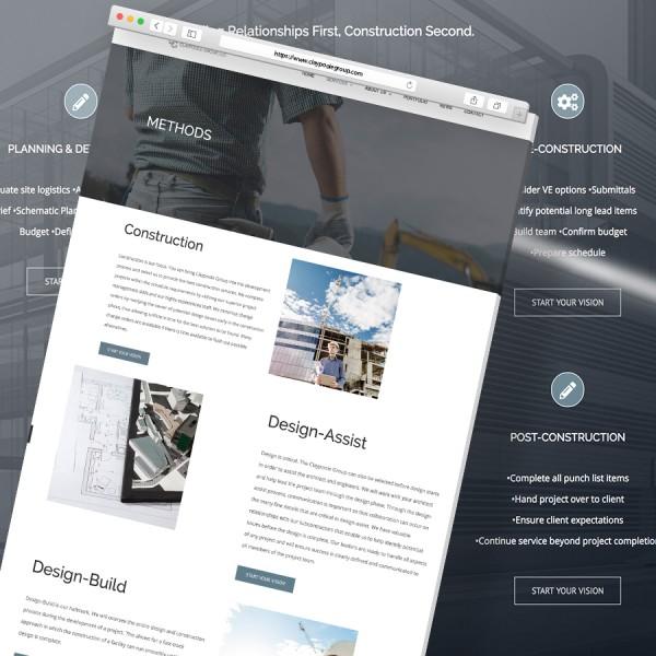 Claypoole Group Website Mockup Square Ratio